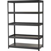 Edsal 5-Shelf Steel Shelving Unit, Black, MR482472BLB