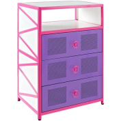 Girls' Buggy 3-Drawer Chest, Pink