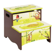 Guidecraft Jungle Party Storage Step-Up, Green