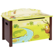 Guidecraft Jungle Party Toy Box, Green
