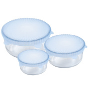 Chef Buddy Set of 3 Universal Reusable Silicone Food Covers