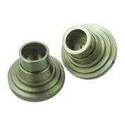 Kingston Brass SRP2718 Brass Shower Rod Base for MILANO Straight or Tension Shower Rod Satin Nickel