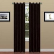 Lavish Home 2 Panel Wavy Curtain Set with Grommets - Black