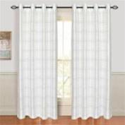 Set of 2 Lavish Home Maggie Grommet Curtain Panels - White