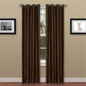 Lavish Home 2 Panel Wavy Curtain Set with Grommets - Brown