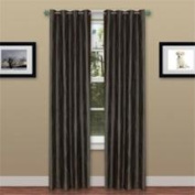 Lavish Home 2 Panel Wavy Curtain Set with Grommets - Grey