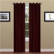 Lavish Home 2 Panel Wavy Curtain Set with Grommets - Burgundy
