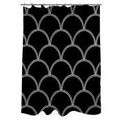 Thumbprintz Art Deco Circles Black and white Shower Curtain, 180cm x 190cm