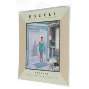 Excell Crystal Vinyl Shower Curtain