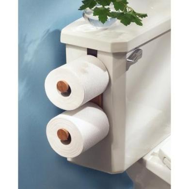 InterDesign Formbu Bamboo Wooden Over-The-Tank Toilet Paper Roll Holder