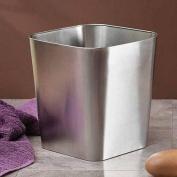 InterDesign Gia Brushed Stainless Steel Waste Basket