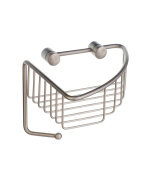 Sideline Corner Soap Basket in Brushed Nickel Finish