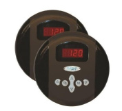 Steam Spa G-SC-2-75-OB Steam Spa Programmable Dual Control Panel Plus Two memory Settings; Oil Rubbe