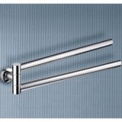 Gedy by Nameeks Demetra 43cm Wall Mounted Jointed Double Towel Bar