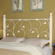 Coaster Full/Queen Floral Metal Headboard, White