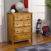 Coaster Wrangle Hill 4-Drawer Chest, Amber