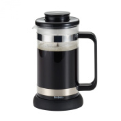 BonJour Coffee and Tea 8-Cup Riviera French Press with Coaster and Scoop, Black