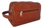 Top-Zip Toiletry Kit in Saddle Leather