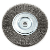Forney 72747 Wire Bench Wheel Brush Fine Crimped with 1.3cm and 1.6cm Arbour 15cm -by-.008-Inc