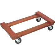 MONSTER TRUCKS MT10002 Wood 4-Wheel Piano Rubber Cap Dolly MT10002