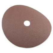 Forney Industries 71656 Circular Shape Sanding Disc, 7 in, 80 Grit, 7/8 in Arbour