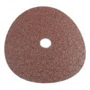 Forney Industries 71653 Circular Shape Sanding Disc, 7 in, 24 Grit, 7/8 in Arbour