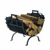 Pleasant Hearth Log Holder with Canvas Tote Carrier