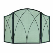 Pleasant Hearth Arched 3-Panel Victorian Gothic Fireplace Screen