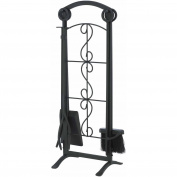 Black 5-Piece Fireplace Accessory Toolset, FA045TA