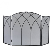 Pleasant Hearth Gothic Fireplace Screen, Black