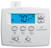 White-Rodgers 1F89EZ-0251 Non Programmable Heat Pump Digital Thermostat with 3 T