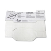 RMC Rest Assured Half-Fold Lever Dispensed Toilet Seat Covers, White, 125 count