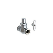 Chicago Faucets 45-LKAB Straight Stop Fitting with Quaturn Compression Cartridge
