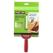 Shur-Line 1791257 Stain Pad With Groove Tool - Each