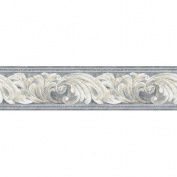 Architectural Scroll Wall Border, Grey/Cream/Beige
