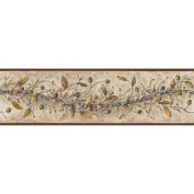 York Wallcoverings HK4669BD Country Book Carolina Vine Border