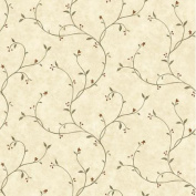 Brewster Home Fashions Borders by Chesapeake Gemma Tin Star Trail Scroll Wallpaper