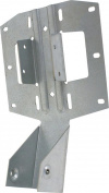 USP Lumber LSSH15-TZ Slope/Skew Joist Hanger, 18 ga T, Steel, Triple Zinc Plated