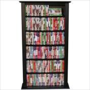 Venture Horizon Single 130cm CD DVD Wall Rack Media Storage-Black