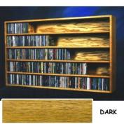 Solid Oak Wall Mount CD Storage