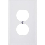 Leviton 021-80503-00W Mid-Way Outlet Wall Plate-WHT DUPLEX WALLPLATE