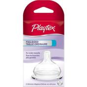 Playtex Full-Size Baby Bottle Nipple, Slow Flow, 2-Pack, BPA-Free