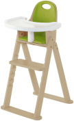 Svan Baby-to-Booster Bentwood High Chair, Natural/Lime Cushion
