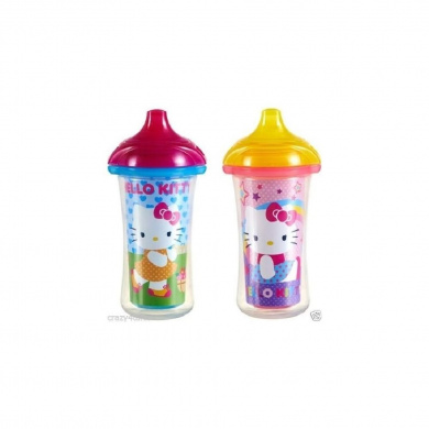 Munchkin Hello Kitty 270ml Insulated Sippy Cups 9+ Months, 2 count