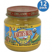 Earth's Best Stage 2 Corn & Butternut Squash Baby Food, 120ml