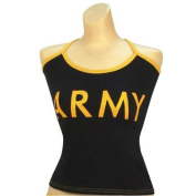 """Women's Black """"Army"""" Casual Tank Top, Camisole-L"""