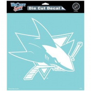 San Jose Sharks Official NHL 20cm x 20cm Die Cut Car Decal SJ by Wincraft 296108