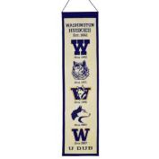 Washington Huskies Official NCAA 20cm x 80cm Heritage Banner Flag by Winning Streak