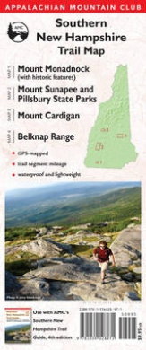 Southern New Hampshire Trail Map: Mount Monadnock (with Historic Features) / Sunapee and Pillsbury State Parks / Mount Cardigan / Belknap Range