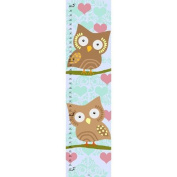 Green Leaf Art Owls and Hearts Growth Chart